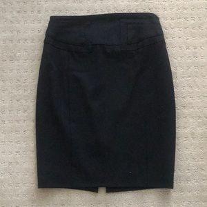 Express high waist pencil skirt, black, size 2